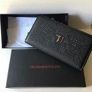 Trussardi Wallet black. Unused